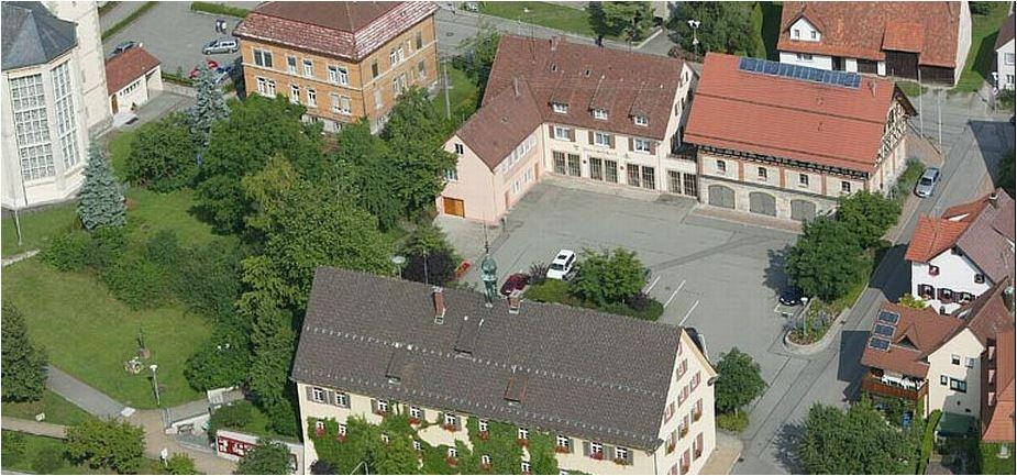 Luftbild Rathaus