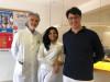 von links nach rechts Dr. Kilian, Frau Zafar, Dr. Jauch