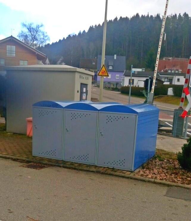 Fahrradboxen am Bahnhalt Deißlingen Mitte